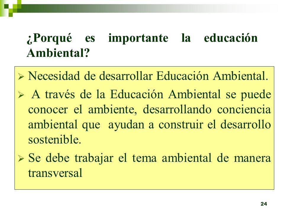 23 EDUCACIÓN AMBIENTAL PROCESO EDUCATIVO PERMANENTE TRANSVERSALDIVERSIFICADOBUSCA GENERAR FORMAL NO FORMAL ESCOLAR SUPERIOR CAPACITACION MEDIOS DE COM