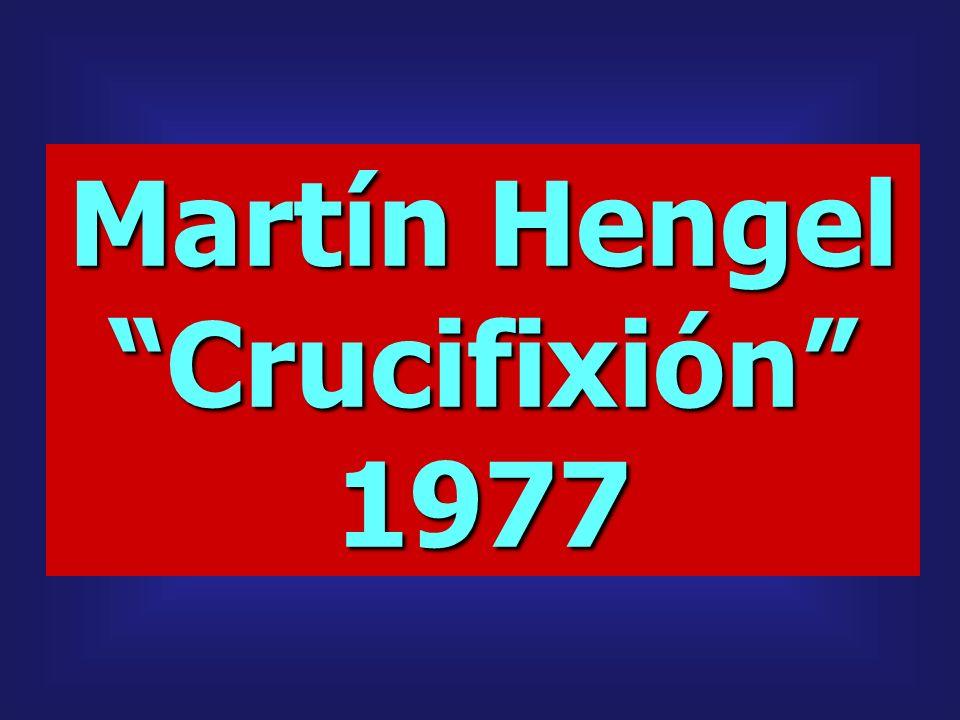 Martín Hengel Crucifixión1977