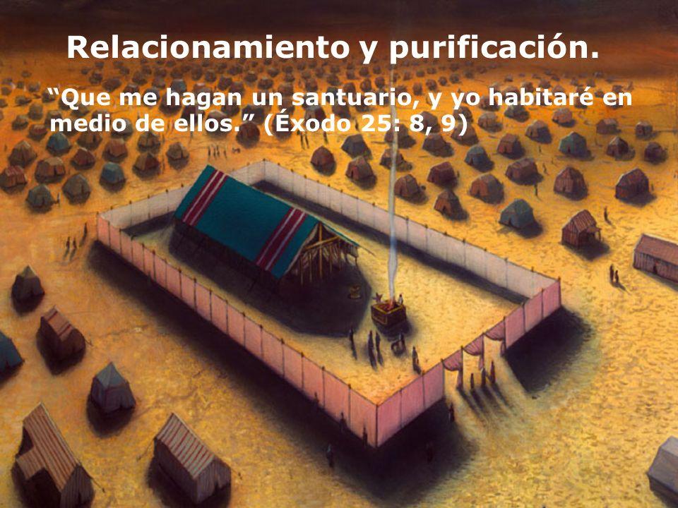 Relacionamiento y purificación. Que me hagan un santuario, y yo habitaré en medio de ellos. (Éxodo 25: 8, 9)