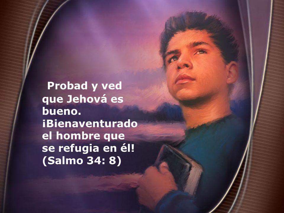 Probad y ved que Jehová es bueno. ¡Bienaventurado el hombre que se refugia en él! (Salmo 34: 8)
