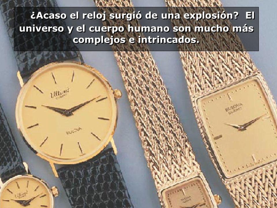 ¿Acaso el reloj surgió de una explosión? El universo y el cuerpo humano son mucho más complejos e intrincados.