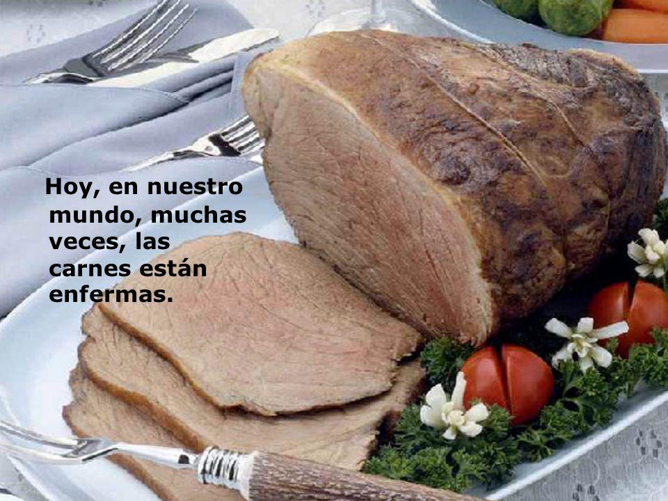 Hoy, en nuestro mundo, muchas veces, las carnes están enfermas.