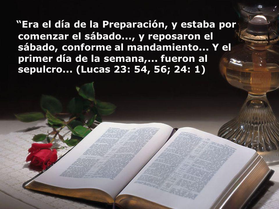 El libro de Lucas fue escrito veintiocho años después de la resurrección, pero el registro todavía dice que ellos reposaron..., conforme al mandamiento.