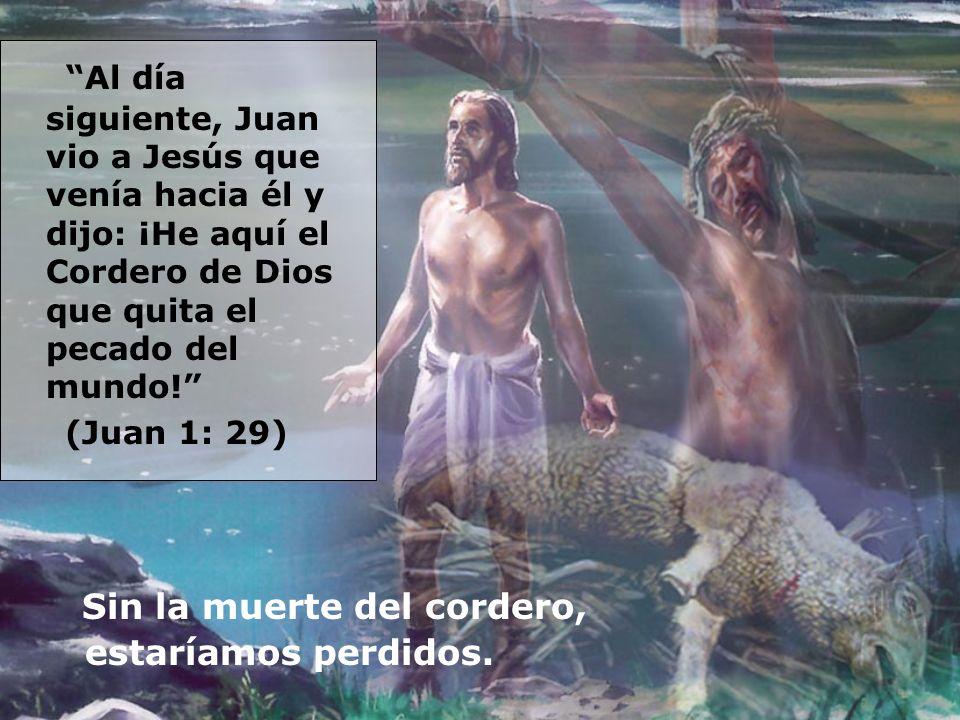 Al día siguiente, Juan vio a Jesús que venía hacia él y dijo: ¡He aquí el Cordero de Dios que quita el pecado del mundo! (Juan 1: 29) Sin la muerte de