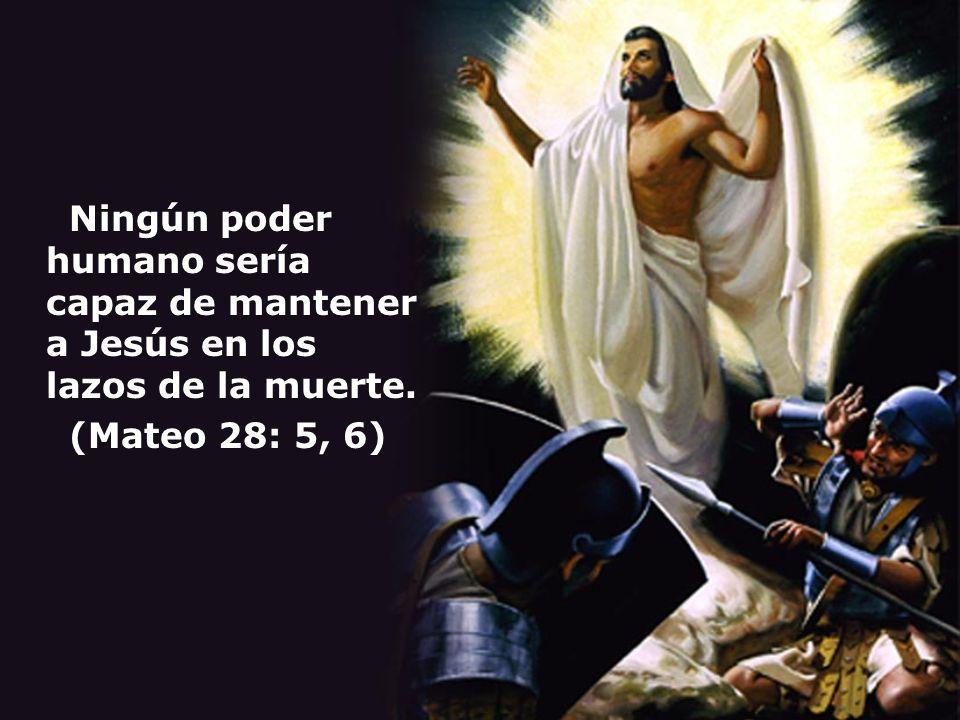 Ningún poder humano sería capaz de mantener a Jesús en los lazos de la muerte. (Mateo 28: 5, 6)