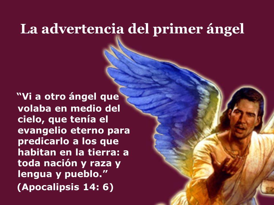 Vi a otro ángel que volaba en medio del cielo, que tenía el evangelio eterno para predicarlo a los que habitan en la tierra: a toda nación y raza y le