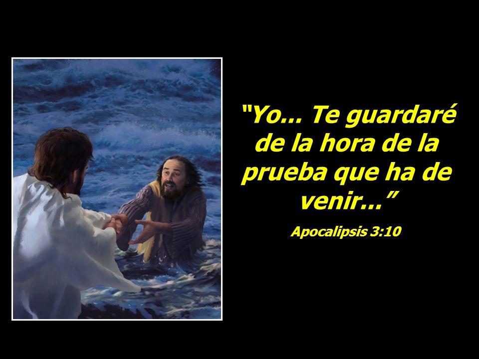 Yo... Te guardaré de la hora de la prueba que ha de venir... Apocalipsis 3:10