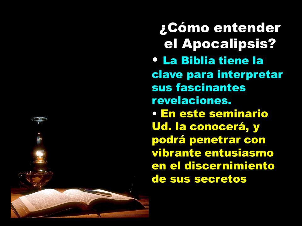 ¿Cómo entender el Apocalipsis? La Biblia tiene la clave para interpretar sus fascinantes revelaciones. En este seminario Ud. la conocerá, y podrá pene