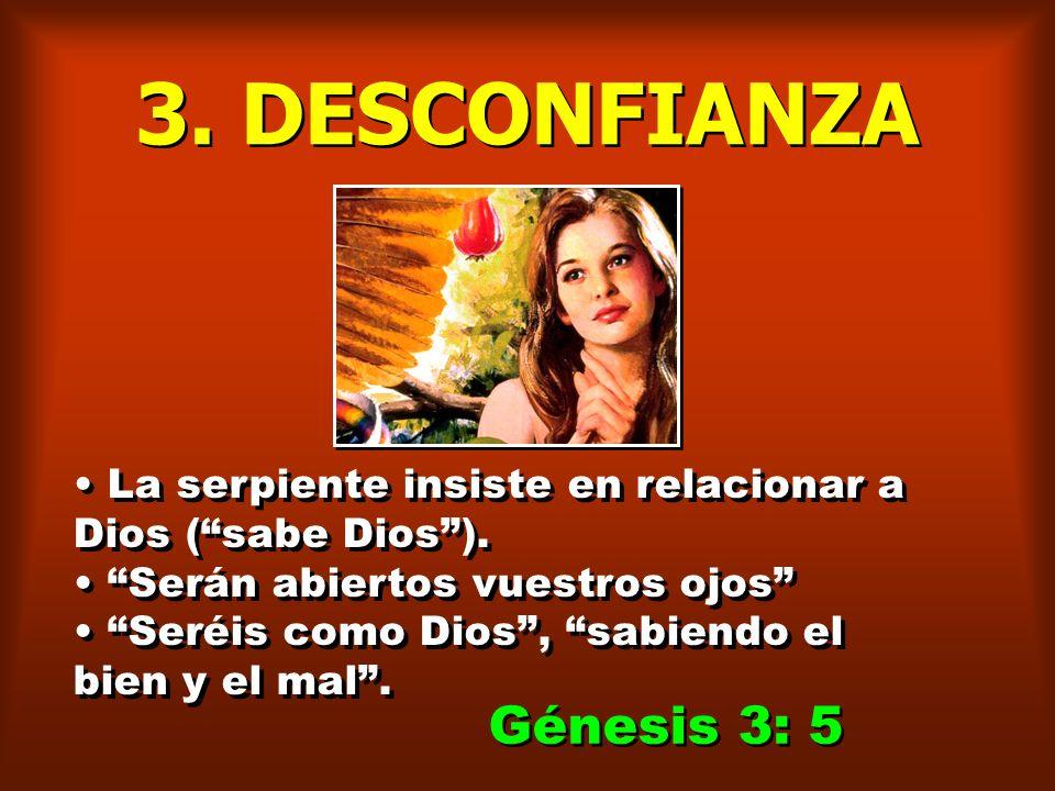 2. DUDA La serpiente logra colocar otro pensamiento en la mente de Eva: La posibilidad de que Dios haya mentido. Dos palabras contrapuestas: La Palabr