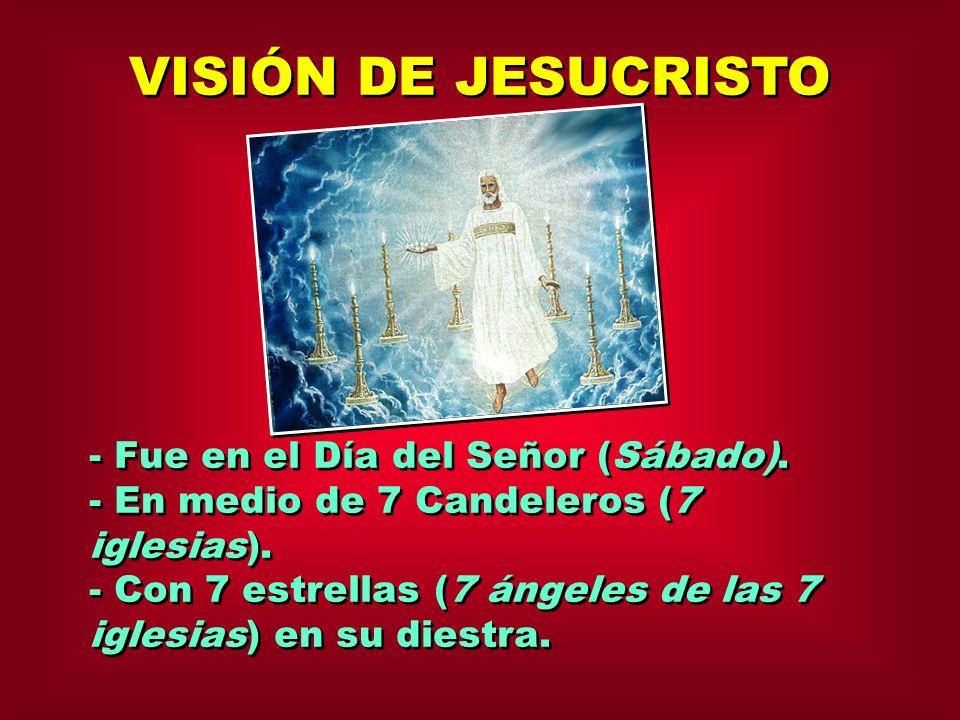 VISIÓN DE JESUCRISTO - Fue en el Día del Señor (Sábado).