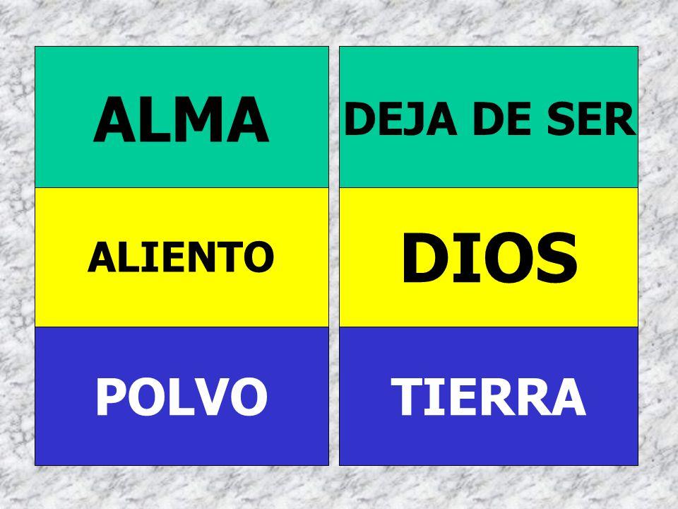 POLVO ALIENTO ALMA TIERRA DIOS DEJA DE SER