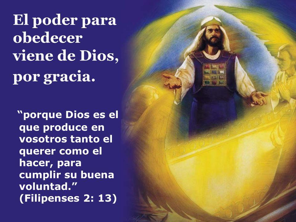 El poder para obedecer viene de Dios, por gracia. porque Dios es el que produce en vosotros tanto el querer como el hacer, para cumplir su buena volun