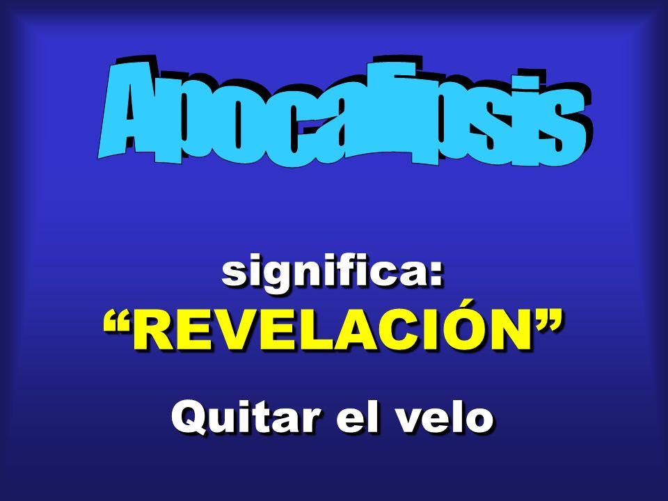 significa: REVELACIÓN Quitar el velo significa: REVELACIÓN Quitar el velo