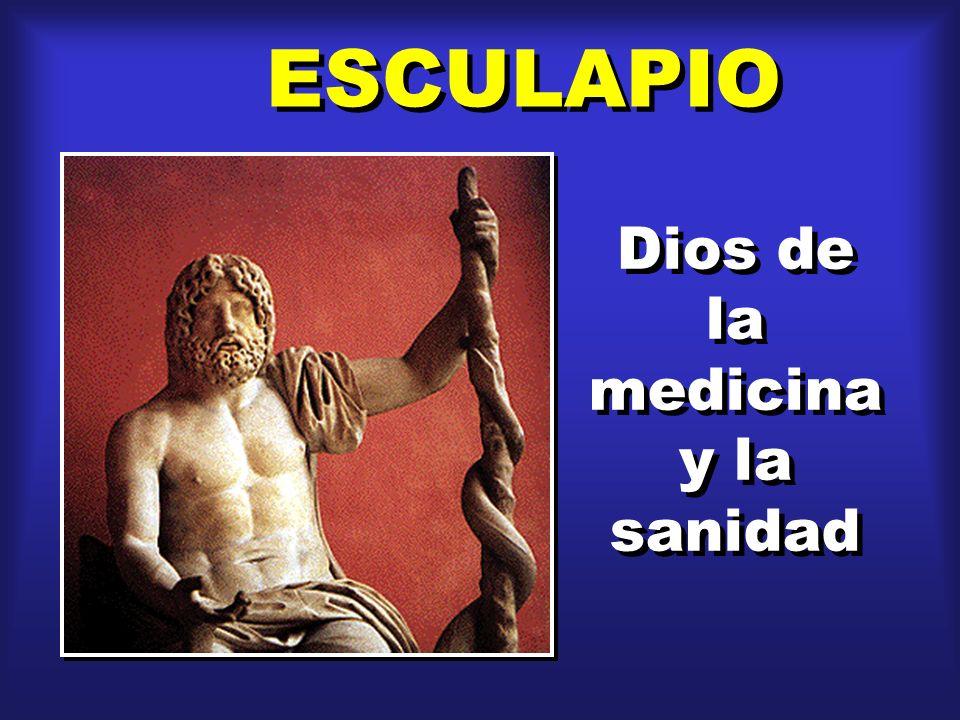 ESCULAPIO Dios de la medicina y la sanidad