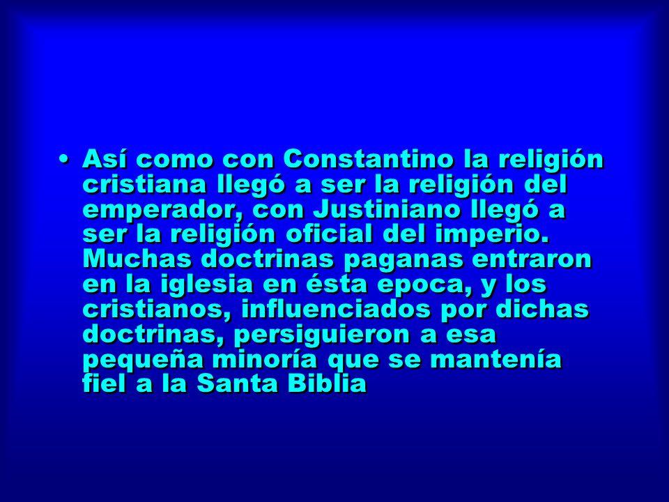 Así como con Constantino la religión cristiana llegó a ser la religión del emperador, con Justiniano llegó a ser la religión oficial del imperio. Much