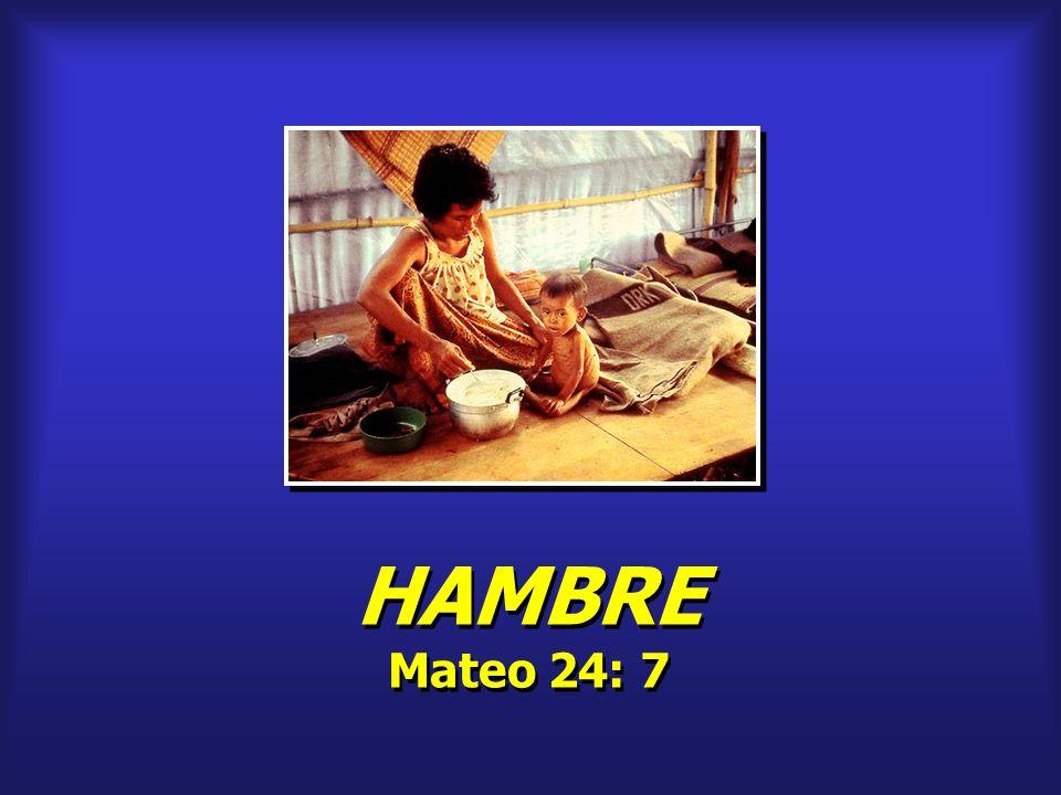 HAMBRE Mateo 24: 7 HAMBRE Mateo 24: 7