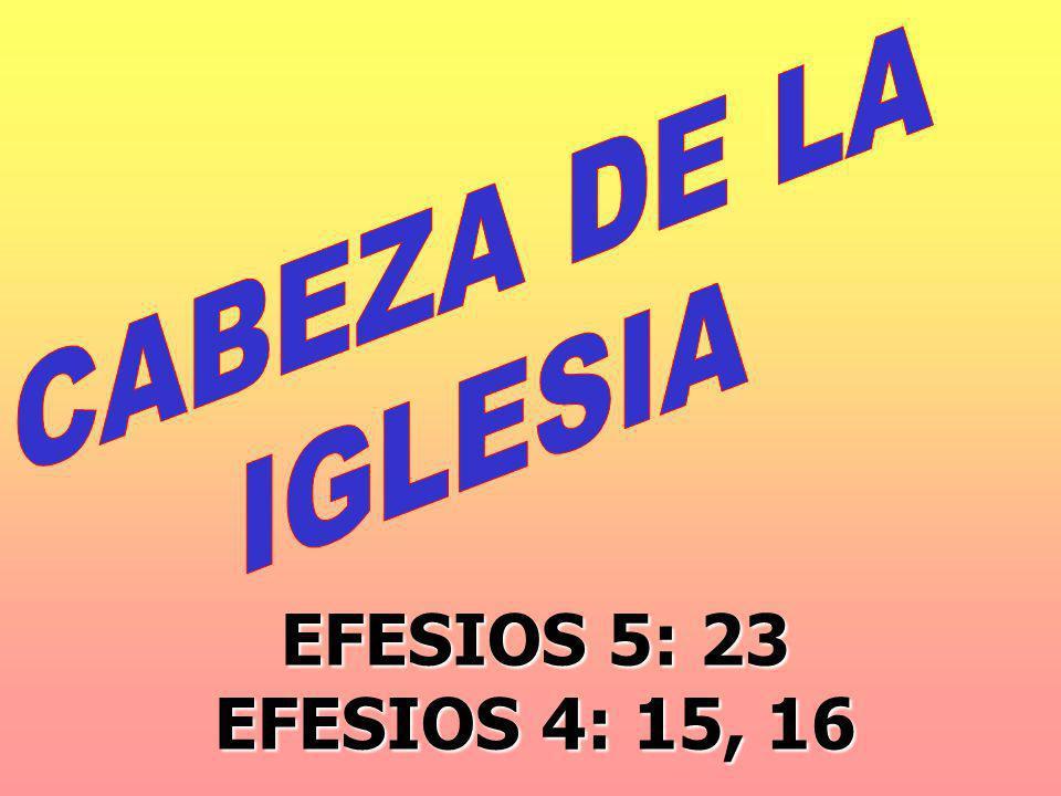 EFESIOS 5: 23 EFESIOS 4: 15, 16