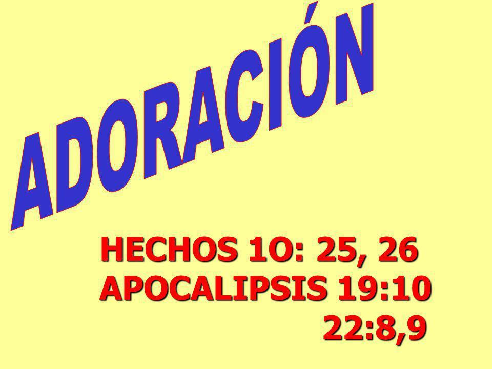 HECHOS 1O: 25, 26 APOCALIPSIS 19:10 22:8,9 22:8,9