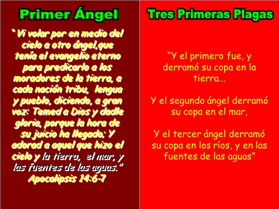 Vi volar por en medio del cielo a otro ángel,que tenía el evangelio eterno para predicarlo a los moradores de la tierra, a cada nación tribu, lengua y