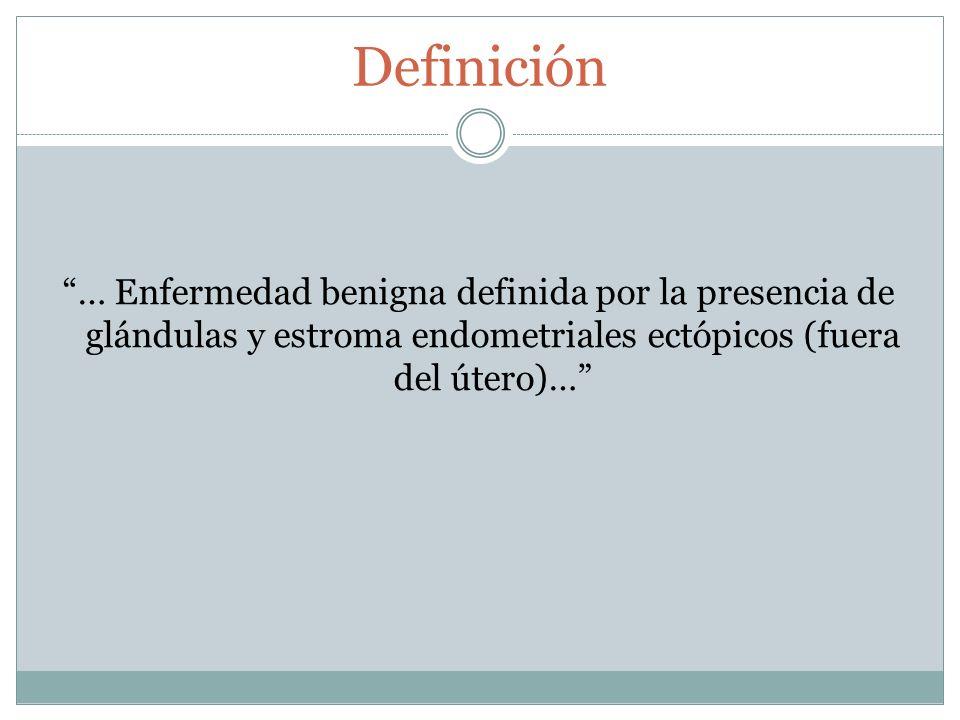 Patogénesis Endometriosis Menstruación retrógrada Metaplasia celómica Inducción Descanso embriológico Metástasis linfática y vascular
