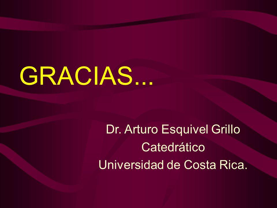 GRACIAS... Dr. Arturo Esquivel Grillo Catedrático Universidad de Costa Rica.