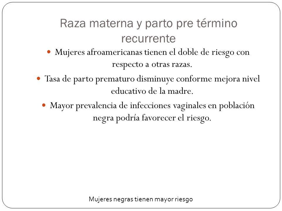 Infección y parto pre término recurrente Se ha relacionado: ureoplasma, mycoplasma, clamydia, tricomonas, E.Choli, estreptococo del grupo B, y anaerobios (bacteroides, mobiluncus).