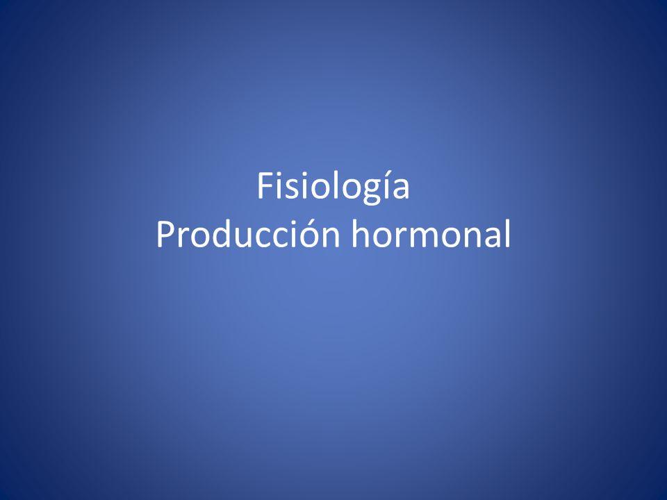 Fisiología Producción hormonal