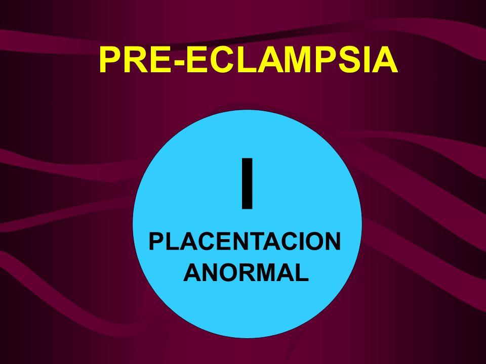 PRE-ECLAMPSIA I PLACENTACION ANORMAL
