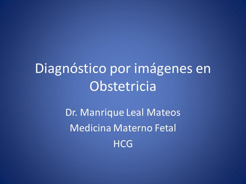 Diagnóstico por imágenes en Obstetricia Dr. Manrique Leal Mateos Medicina Materno Fetal HCG