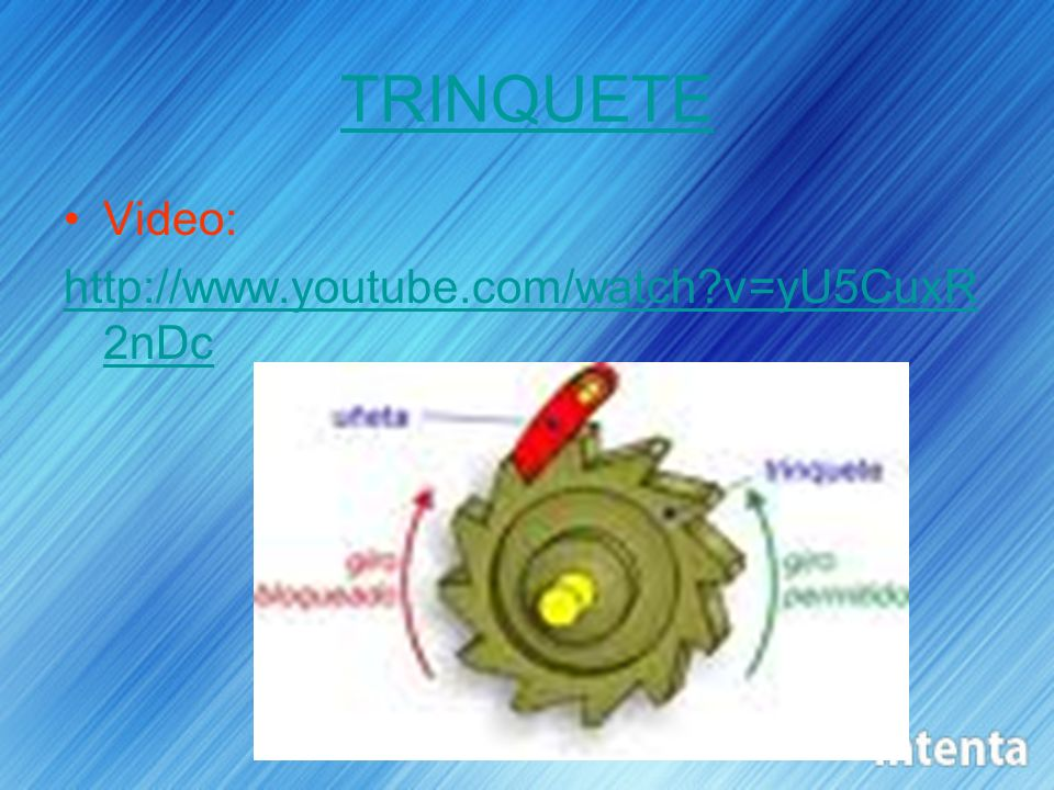TRINQUETE Video: http://www.youtube.com/watch?v=yU5CuxR 2nDc