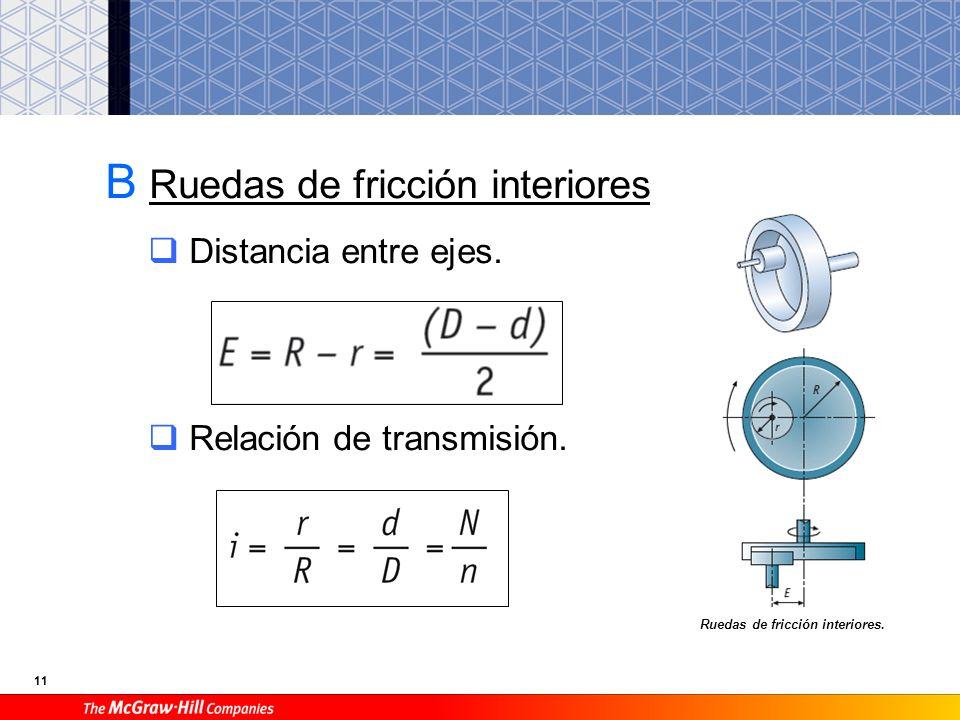 10 Relación de transmisión. Velocidad tangencial.