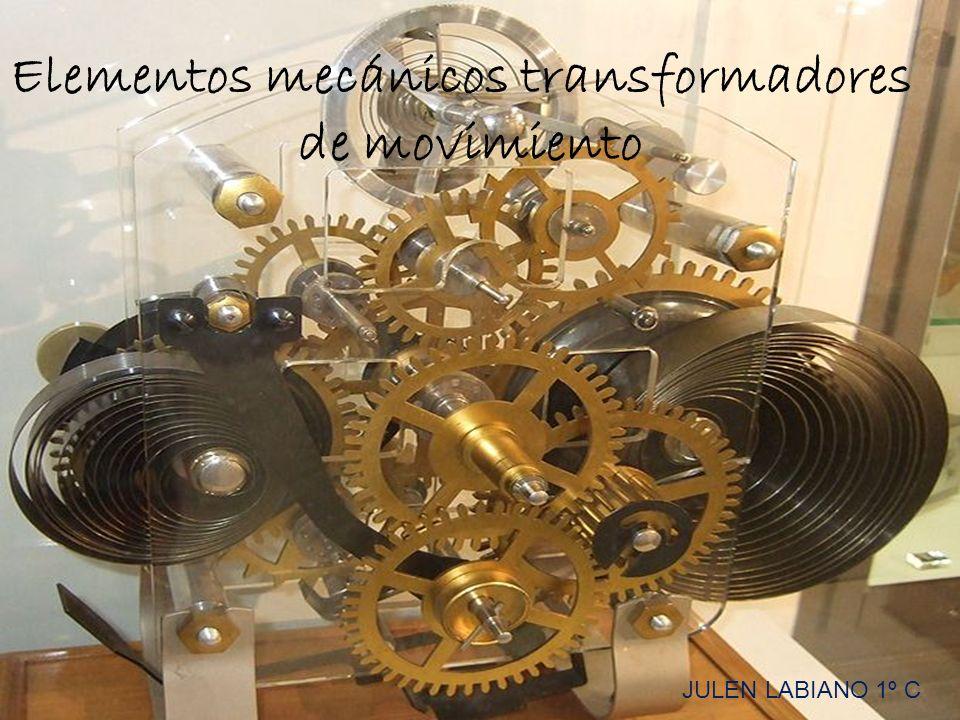 Elementos mecánicos transformadores de movimiento JULEN LABIANO 1º C