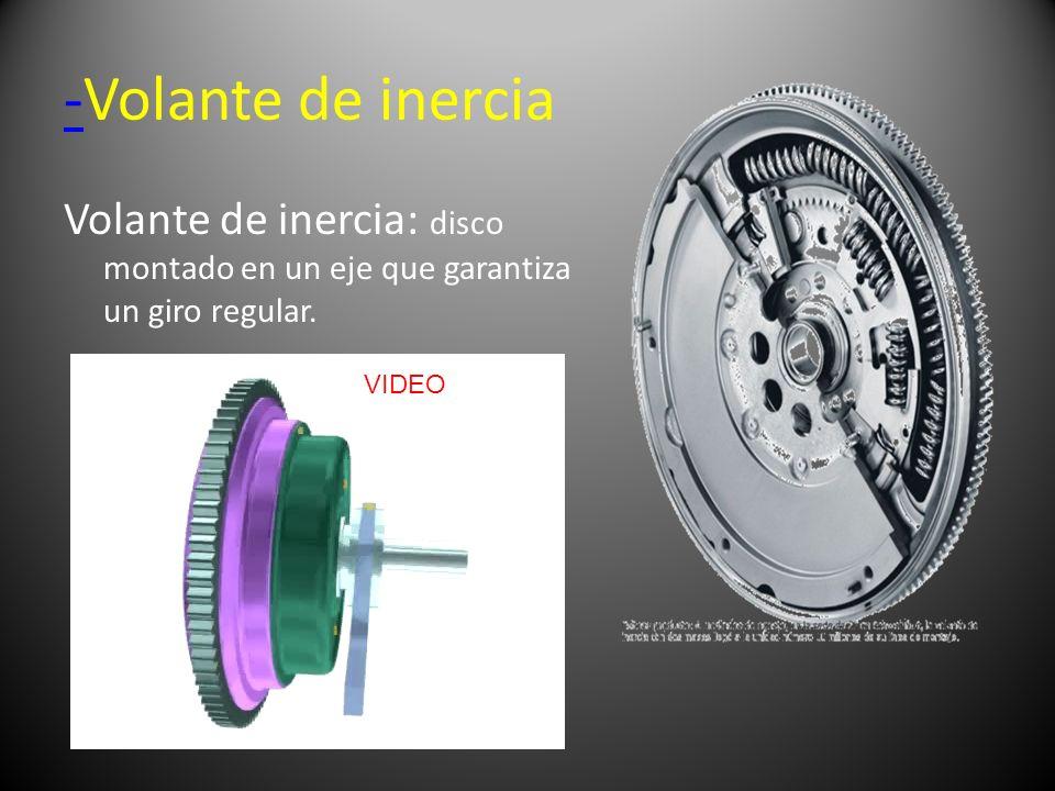 --Volante de inercia Volante de inercia: disco montado en un eje que garantiza un giro regular. VIDEO