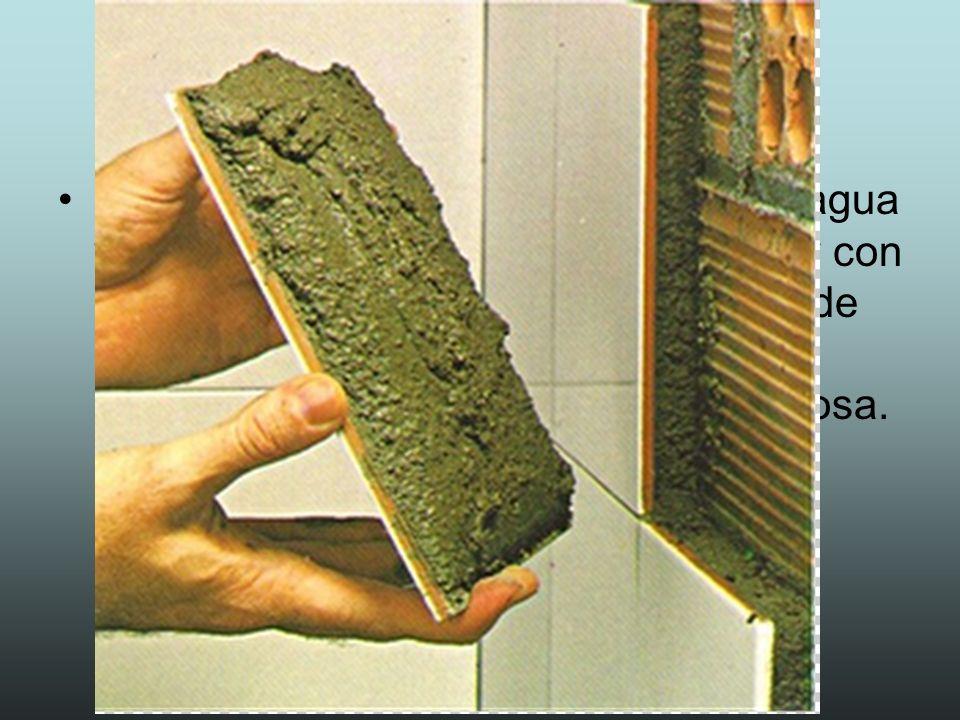Hormigón Es una mezcla de cemento en polvo, arena, agua y grava.