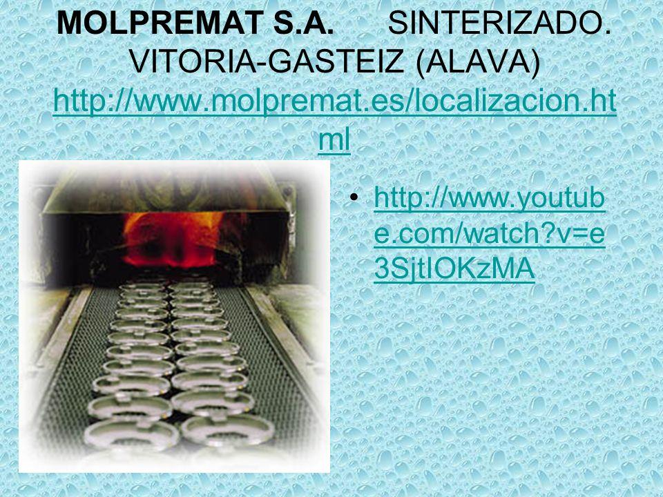 MOLPREMAT S.A. SINTERIZADO.