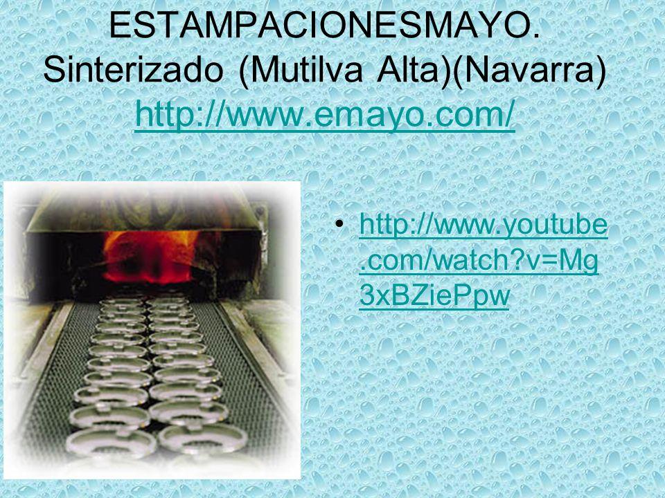 TrefinasaTrefilado(alambre de acero)Uharte Arakil (Navarra)http://www.trefinasa.com/http://www.trefinasa.com/ http://www.vaclip.co m/view_video.php?c ategory=md&channe l=&country=&locatio n=&page=117&provi nce=&viewkey=0896 61135d0487843108 &viewtype=basichttp://www.vaclip.co m/view_video.php?c ategory=md&channe l=&country=&locatio n=&page=117&provi nce=&viewkey=0896 61135d0487843108 &viewtype=basic