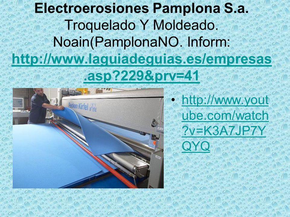 Electroerosiones Pamplona S.a. Troquelado Y Moldeado.