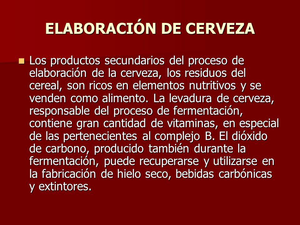 ELABORACIÓN DE CERVEZA Los productos secundarios del proceso de elaboración de la cerveza, los residuos del cereal, son ricos en elementos nutritivos