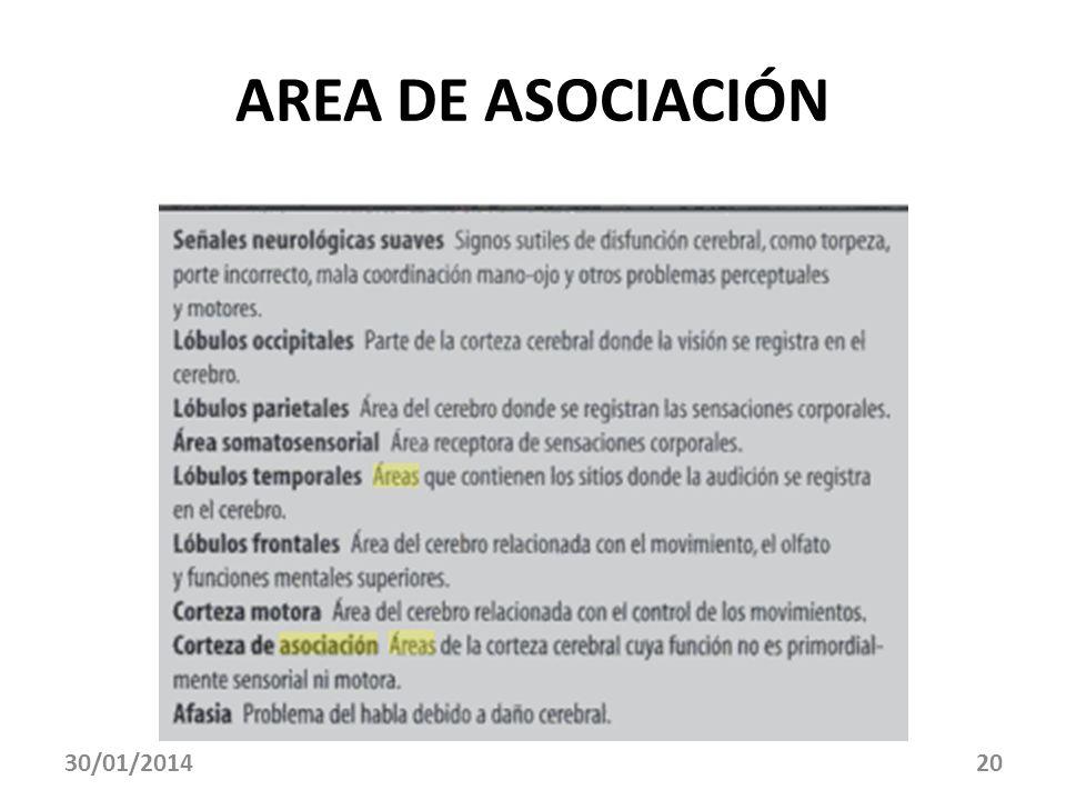 AREA DE ASOCIACIÓN 30/01/201420