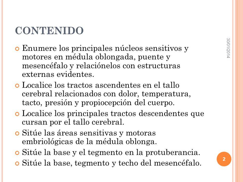 M ÉDULA OBLONGA 30/01/2014 3