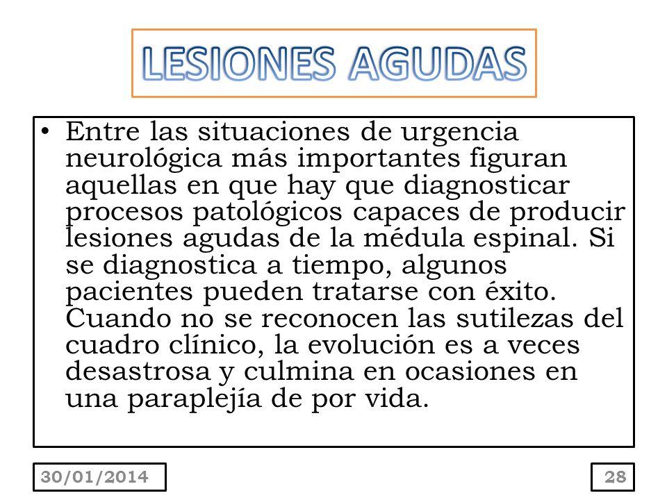 Entre las situaciones de urgencia neurológica más importantes figuran aquellas en que hay que diagnosticar procesos patológicos capaces de producir le