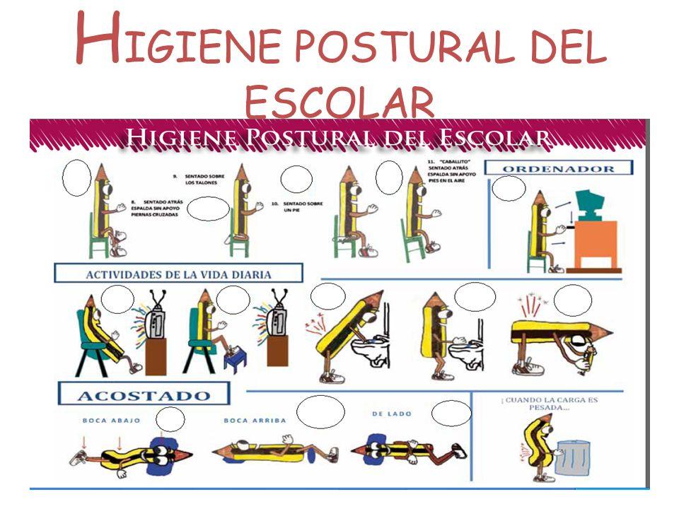 H IGIENE POSTURAL DEL ESCOLAR 23