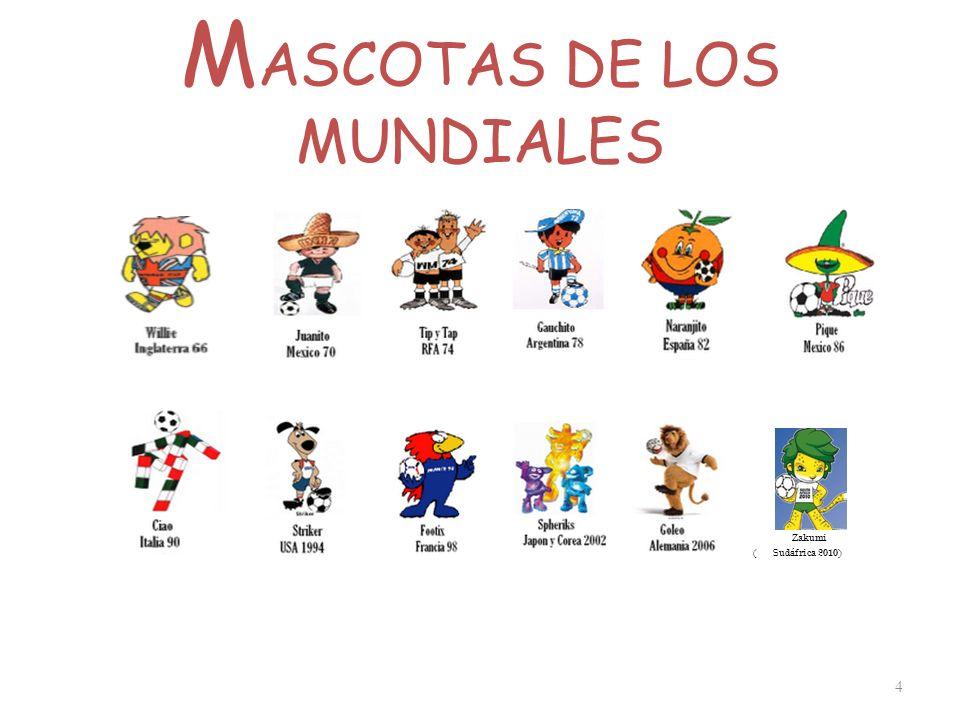 M ASCOTAS DE LOS MUNDIALES 4 Zakumi ( Sud á frica 2010)