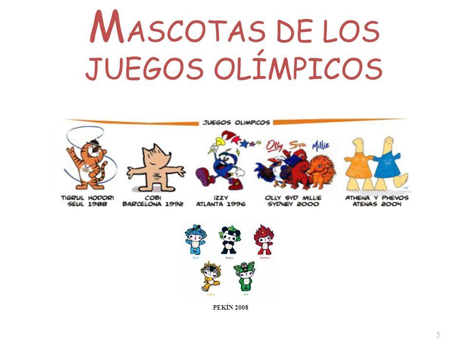 M ASCOTAS DE LOS JUEGOS OLÍMPICOS 5 PEKÍN 2008
