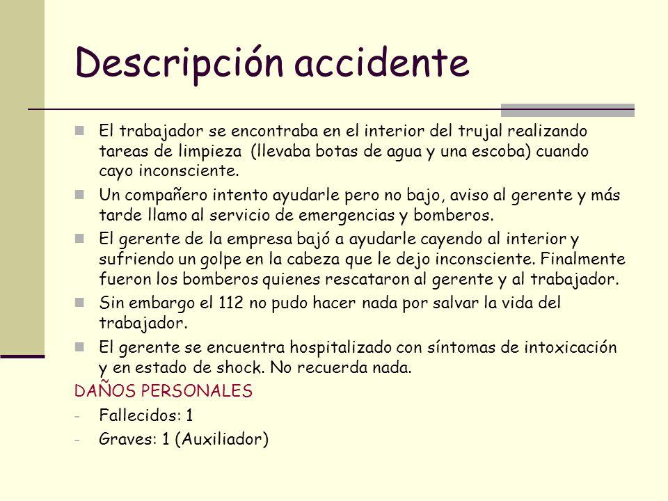Descripción accidente