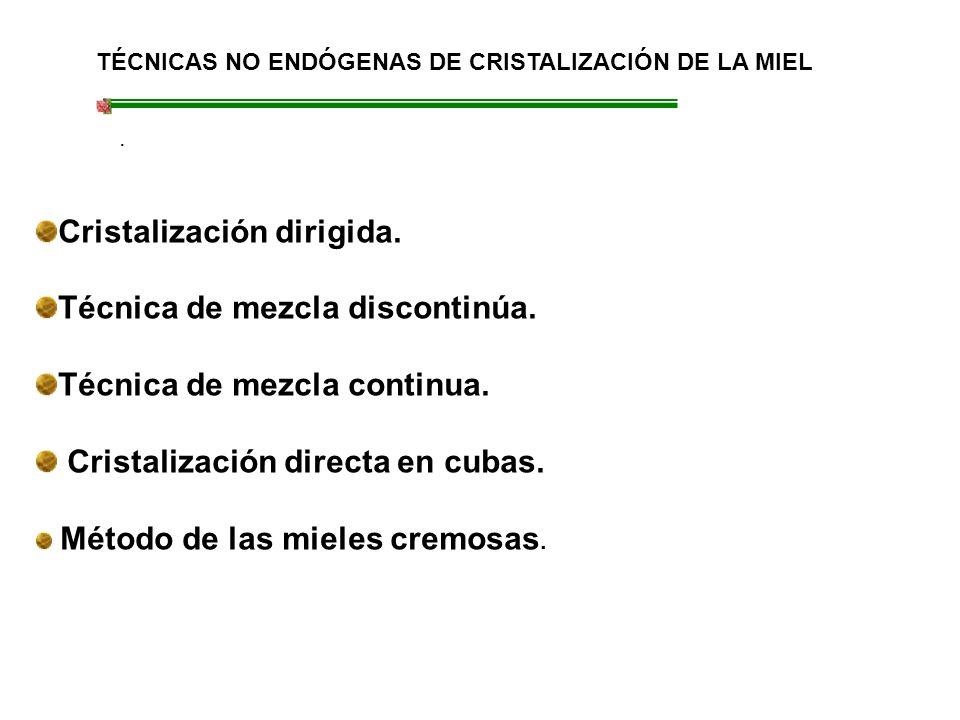 TÉCNICAS NO ENDÓGENAS DE CRISTALIZACIÓN DE LA MIEL.