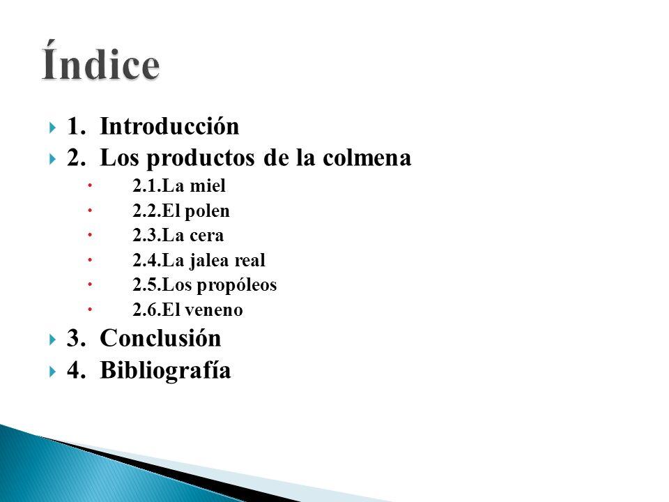 La jalea real contiene: Agua, prótidos (materias nitrogenadas), lípidos (materias grasas), un ácido graso específico, glúcidos (azúcares), vitaminas (B6, B8, B12, etc.) y ciertas sustancias desconocidas que todavía se siguen estudiando.