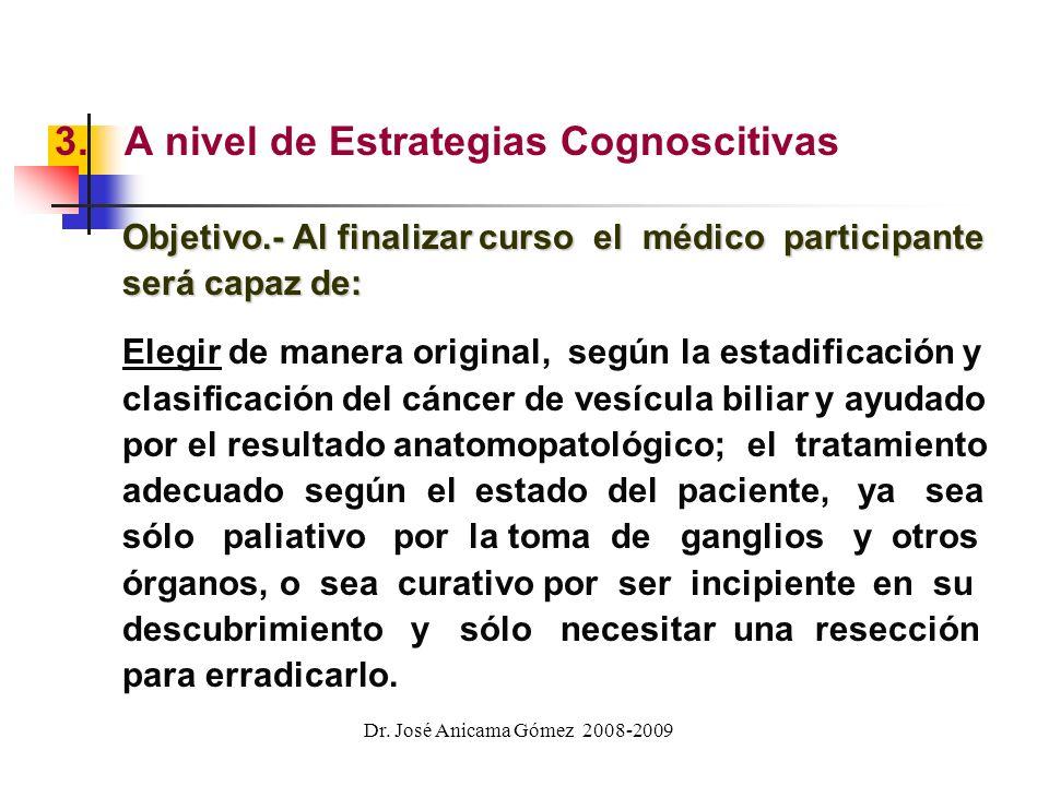 2.A nivel de Habilidades Intelectuales Objetivo.- Al finalizar el curso el médico participante será capaz de: capaz de: (a) Determinar la etiología de