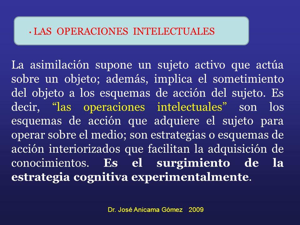 La asimilación supone un sujeto activo que actúa sobre un objeto; además, implica el sometimiento del objeto a los esquemas de acción del sujeto. Es d