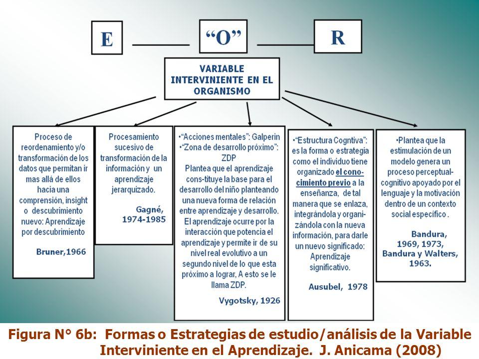 Dr. José Anicama 200714 Figura N° 6a: Formas o Estrategias de estudio/análisis de la Variable Interviniente en el Aprendizaje. J. Anicama (2008)